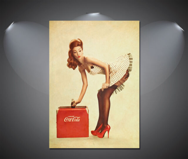 Vintage Coke Cola Pin Up Girl Lorry Poster - A0, A1, A2, A3, A4 sizes