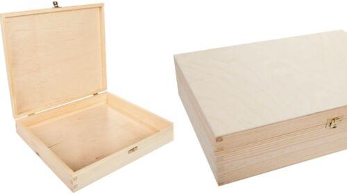 große Kiste Aufbewahrungsbox praktische Holzkiste Deckel Box Holzbox 40x30x10