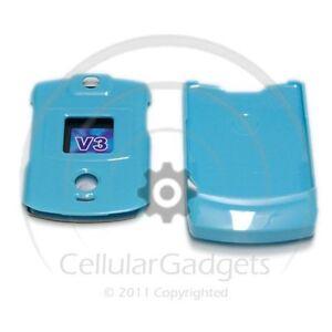 PREMIUM-SOLID-LIGHT-BLUE-Protective-Case-for-Motorola-RAZR-V3-V3c