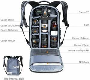 K-amp-F-Concept-Camera-Rucksack-Case-Waterproof-Backpack-Bag-fr-Canon-Nikon-DSLR-SLR