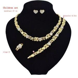 HUGS-amp-KISSES-children-xo-set-Necklace-With-Bracelet-17-034-Xo-Earrings-12