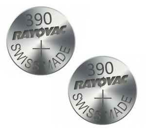 2pc-Rayovac-390-SR1130SW-Batterie-1-5-V-Argent-Piles-D390-S24-GS10-V390-UK