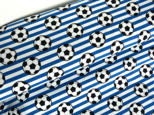 Jersey éco TEX tissu Football Bleu Blanc baumwolljersey au mètre 24353