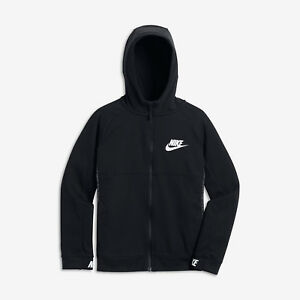27ff57c5ed99 Nike Sportswear Advance 15 Big Kids Boys Full-Zip Hoodie L Black ...