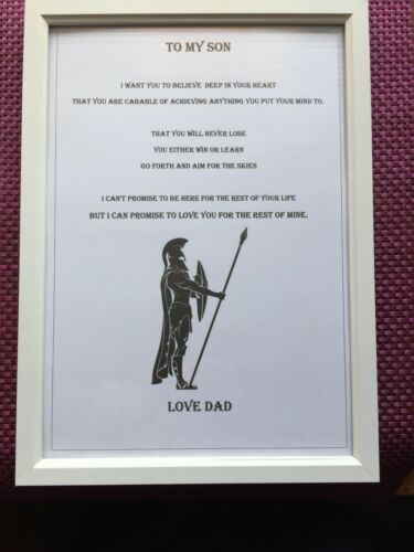 Father To Son Framed Print Gift
