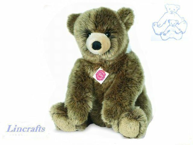 Grizzly Bear Sitting  Plush Soft Toy by Teddy Hermann Sold by Lincrafts. 91036