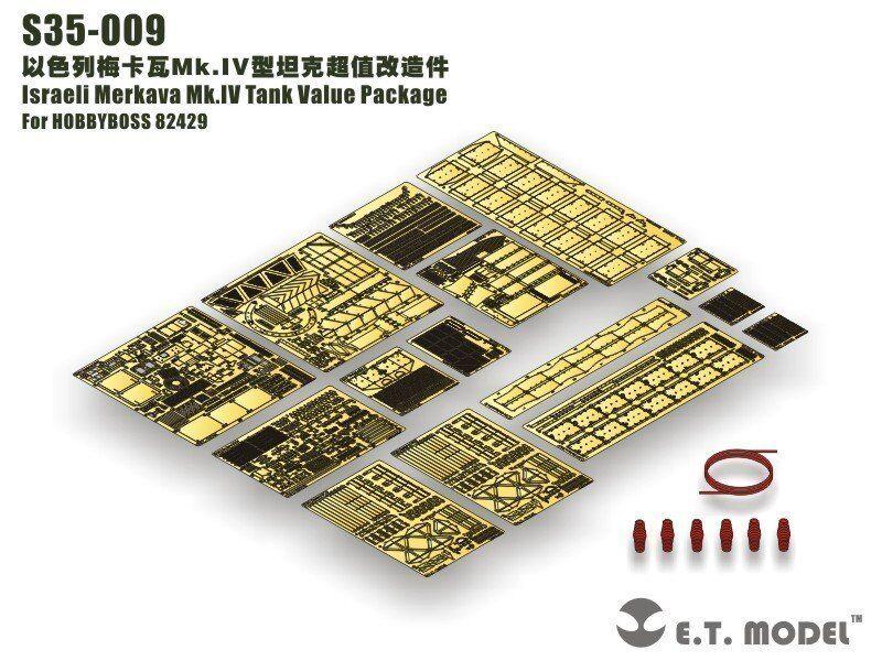 ET Model 1 35  S35009 Merkava Mk.IV Detail Up Value Set for Hobby Boss 82429
