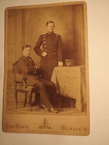 Bien Berlin - 1882-jeune Homme & Soldat? Un Fonctionnaire? En Uniforme-décor/kab-afficher Le Titre D'origine Le Plus Grand Confort