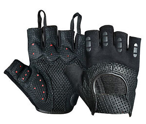7219fc22a332d1 Image is loading New-Padded-Cycling-Gloves-Perforated-Leather-Bike-Bicycle-