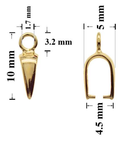 Schmuckteile Sterling Silber Gold Überzogen Verbinder 10x5mm mit Schleife