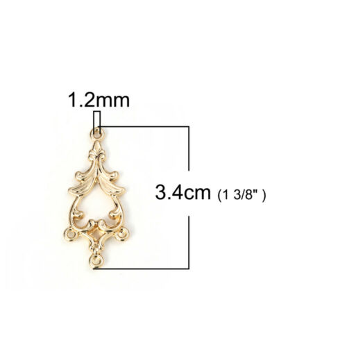 20Pcs Gold Plated Connectors Pendants Findings Embellishment Jewelry Making Tool
