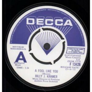 BILLY-J-KRAMER-A-Fool-Like-You-7-034-VINYL-UK-Decca-Demo-B-w-I-039-ll-Keep-You