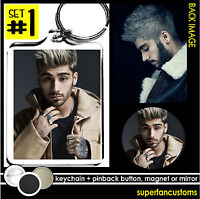 Zayn Malik Keychain + Button Or Magnet Or Mirror Pinback 1 One Direction 1425