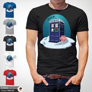 Doctor-Who-Christmas-Design-T-Shirt-Life-of-Doctor-Spoof-Police-Box-Black