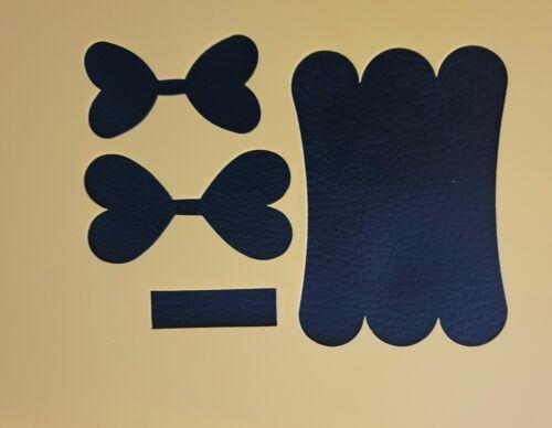 3.75 inch Plastic Hair bow stencil template pinch heart