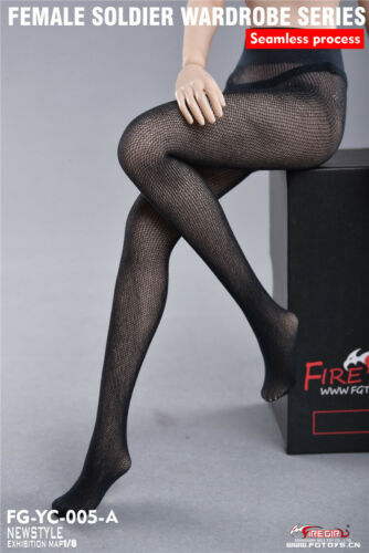 Fire Girl Toys 1//6 Scale Black Seamless Mesh Pantyh Model For 12/'/' Female Figure
