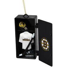 Boston BRUINS Hockey Locker Ornament w/ stick & goalie helmet New NIP 33% off!