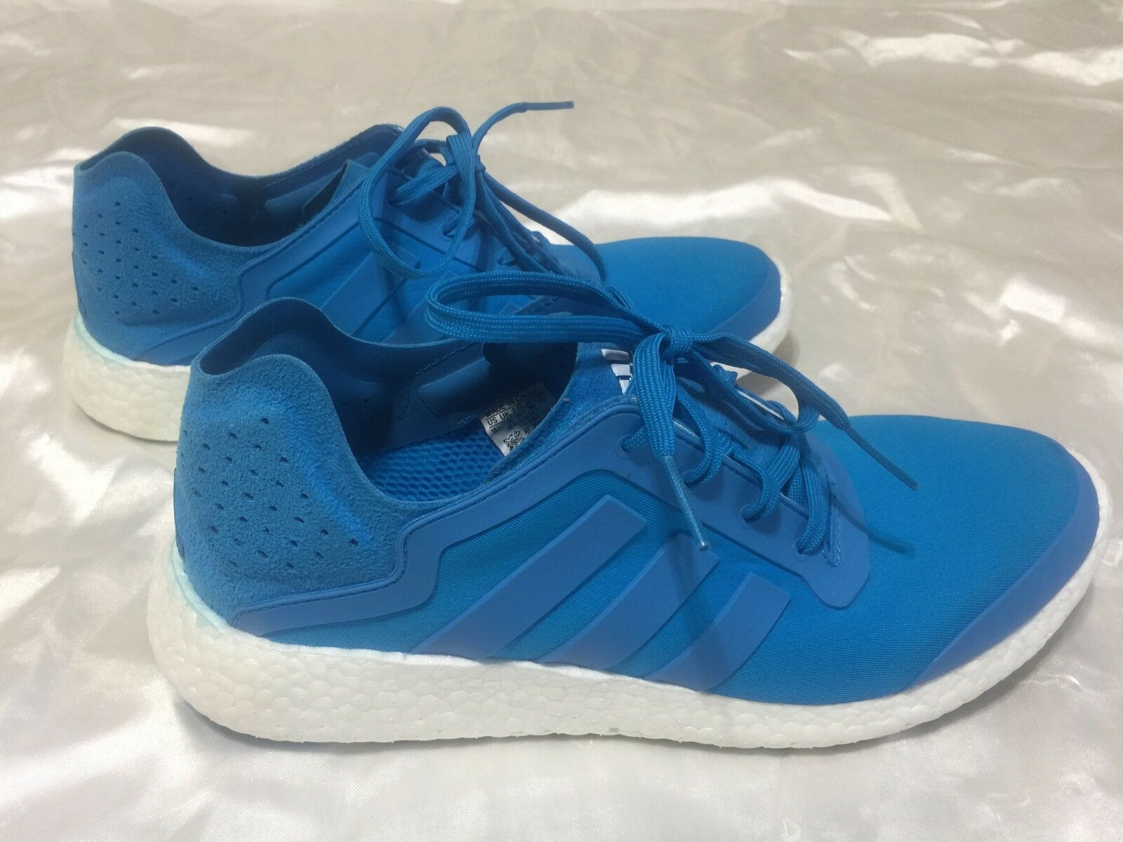 Adidas Pure Boost Solstice bluee White Soles - Nice Condition - Men's 10.5