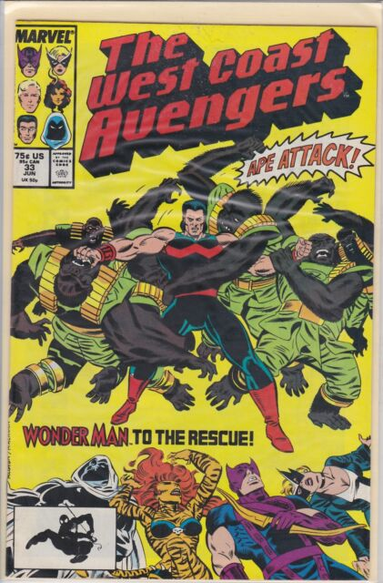 WEST COAST AVENGERS #32 MARVEL COMICS 1988 NM+