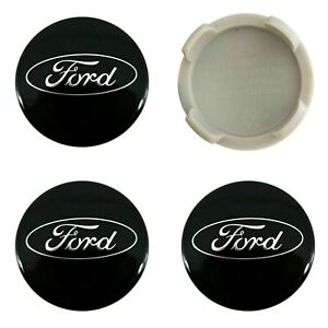 4-x-Ford-Alloy-Wheel-Centre-Caps-54mm-Black-OEM-Fits-All-Focus-Fiesta-KA-Kuga