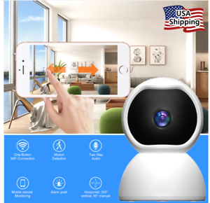 360° Wi-Fi Wireless Security IP Camera 1080 HD Night Vision, Motion Dome Cam