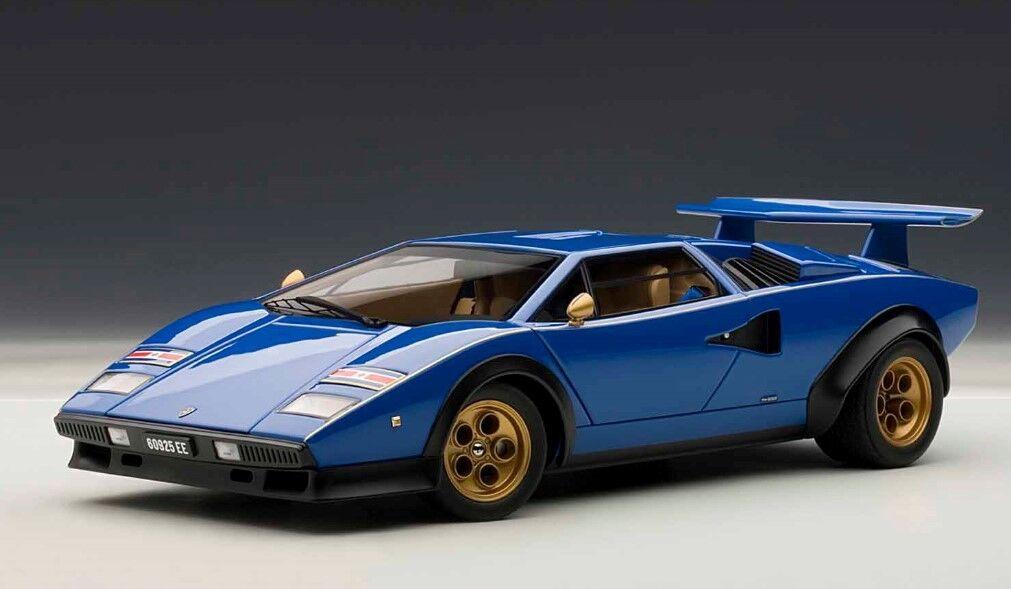 74652 bilAR1 18 Lamborghini Countakh Lp500S Walter Wolf rödigering blå