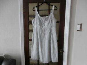 FatFace White Christina Stripe, lined  Dress Size UK 16 RRP £45  new