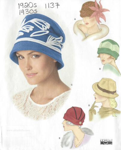 """1920s /& 1930s  Vintage Sewing Pattern HAT S21-22-23/"""" 1137"""