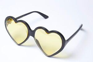 46321b1bed Gucci GG0360S 002 Black Yellow Heart Sunglasses 60mm Non Polarized ...