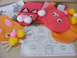4910f4038a3d Image is loading Childrens-Make-your-Own-Animal-Hand-Puppet-Rabbit-