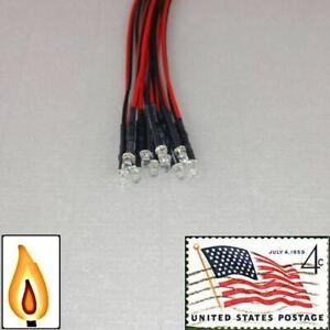 10x-3mm-Orange-Flickering-LEDs-Pre-Wired-9v-11v-Candle-Light-USA