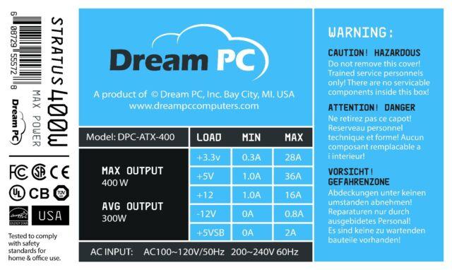 New PC Power Supply Upgrade for HP Pavilion 500-010xt CTO Desktop Computer