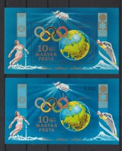 Ungarn-1972-postfrisch-MiNr-Block-89A-B-Olympische-Spiele-Sapporo-und-Muenchen