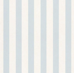 Details About Light Blue White Stripe Childrens Kids Boys S Nursery Wallpaper Rasch 246025