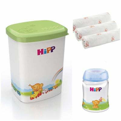 NEW HiPP Formula Powder Milk Storage Box Container with built-in scoop holder
