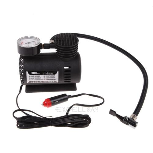Portable 12V Auto Car Electric Air Compressor Tire Infaltor Pump 300 PSI XR E0Xc