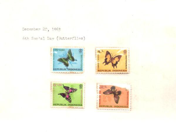Audacieux Timbres Indonésie Sp64 Papillons Menthe Neuf Sans Charnière Set Vente De Fin D'AnnéE