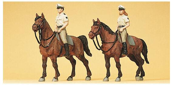 Preiser 10389 HO Berittene Polizei  Sommerunform Deutschland