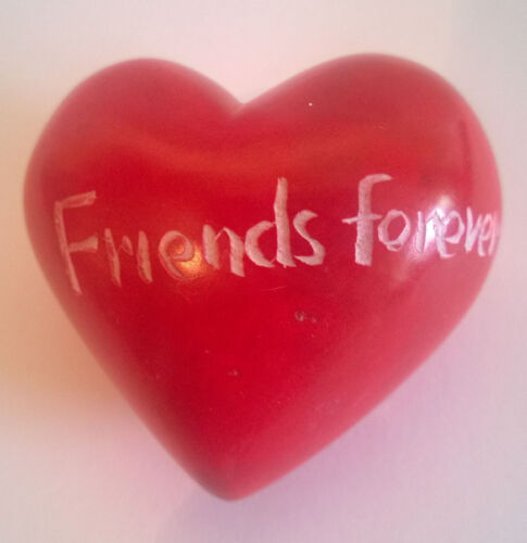Soapstone Heart 4cms Friends Forever