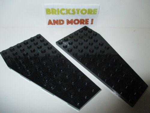 2x Wedge Aile Plaque Plate 6x12 R /& L 30355 Lego 30356 Black//Noir//Schwarz