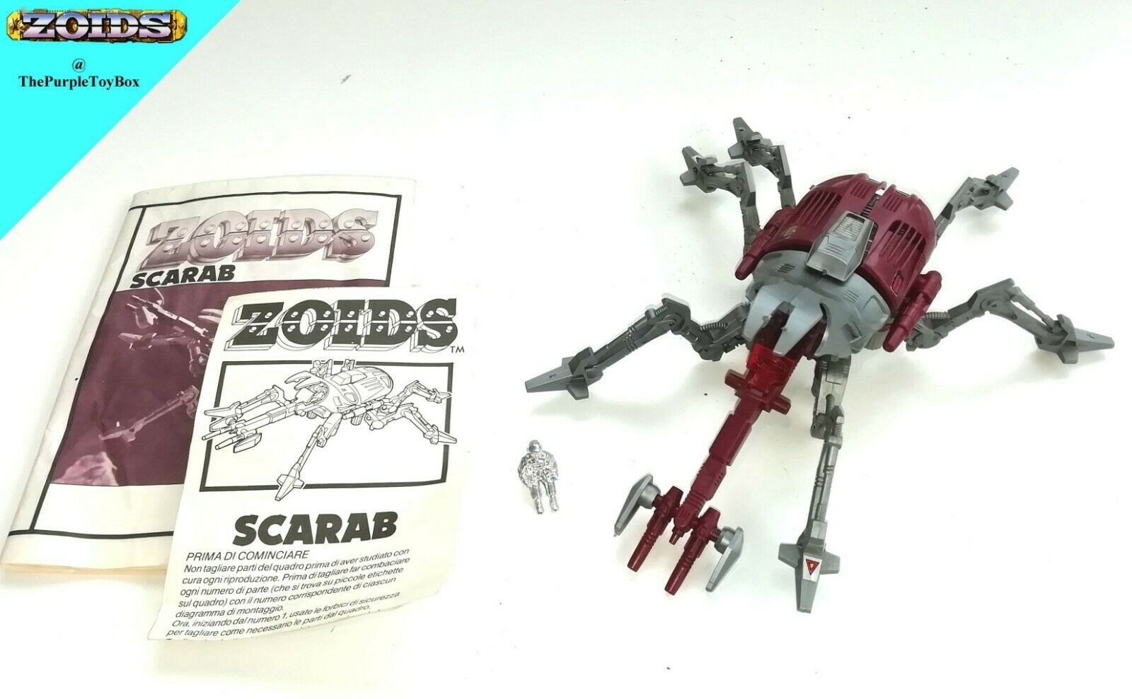 1980's Tomy Zoids OJR - (  EMZ-23 SCARAB SCARAB SCARAB ) Instructions But No Box (AB52) 22c7f1