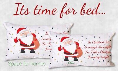 Christmas Eve Personalised Pillow Case Father Christmas Eve gift magic Santa | eBay