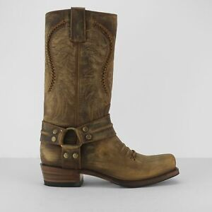 f377821af83 Details about Sendra 11859 Mens Leather Dual Pull Loops Mid Calf Harness  Cowboy Boots Brown