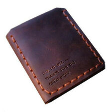 Walter Mitty Genuine Crazy Horse Leather Trifold Engrave Wallet Handmade Vintage