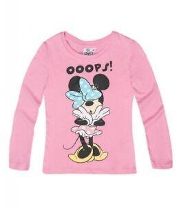 DISNEY-t-shirt-MINNIE-4-6-8-ou-10-ans-rose-manches-longues-haut-NEUF
