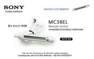 SONY-Remote-control-RM-MC38EL-Hi-MD-HD5-N910-original-white-MC38EL-Earphone