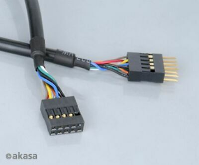 Akasa Internal USB Extension Cable 40CM Female To Male Header
