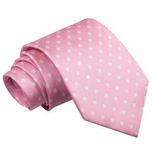 DQT-Tejido-Lunares-Rosa-Formal-Informal-Hombres-Corbata-clasica