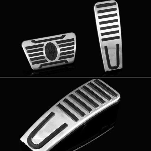 Foot Dead Brake Pedal Fuel Gas Pad Kit For Maserati Ghibli Quattroporte Levante