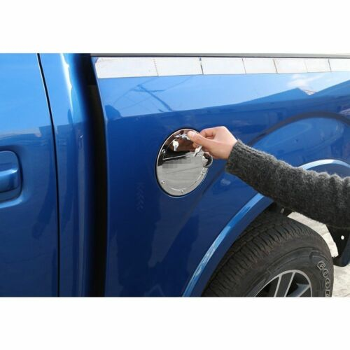 1*Chrome Gas Door Cover Fuel Tank Oil Cap Lock Trim For Ford F-150 F150 15-18